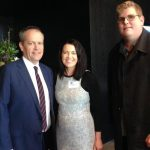 Mitchell Dye with Bill Shorten and Libby Coker