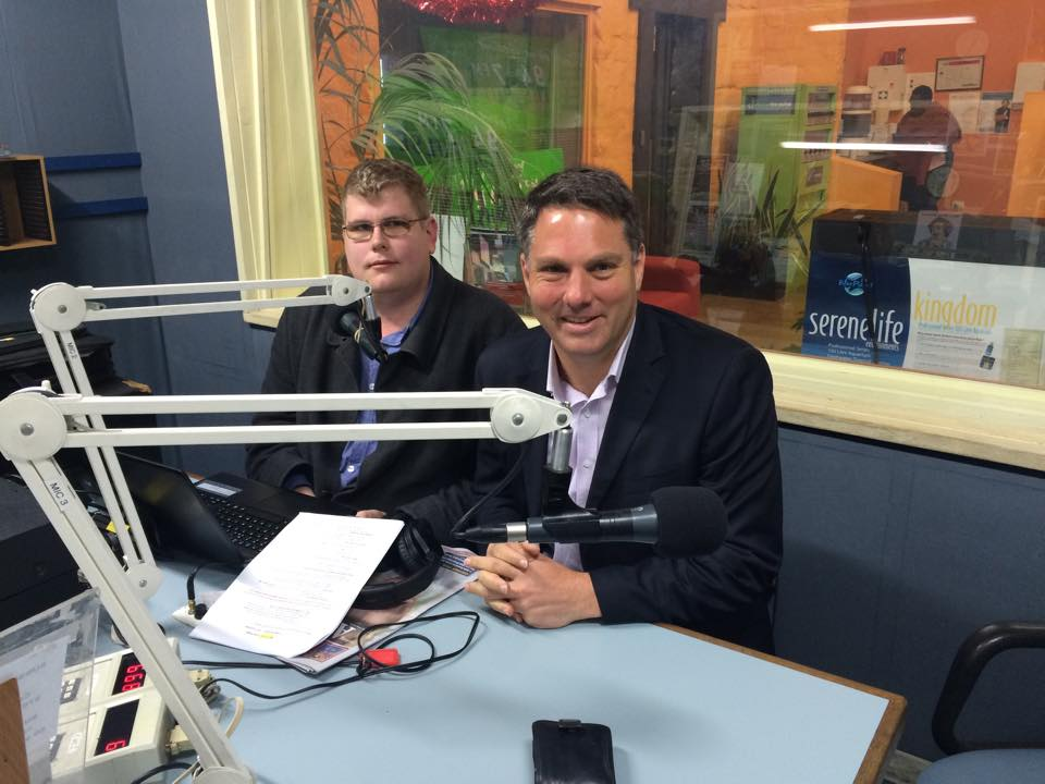 Mitchell Dye with Richard Marles, Federal Member for Corio