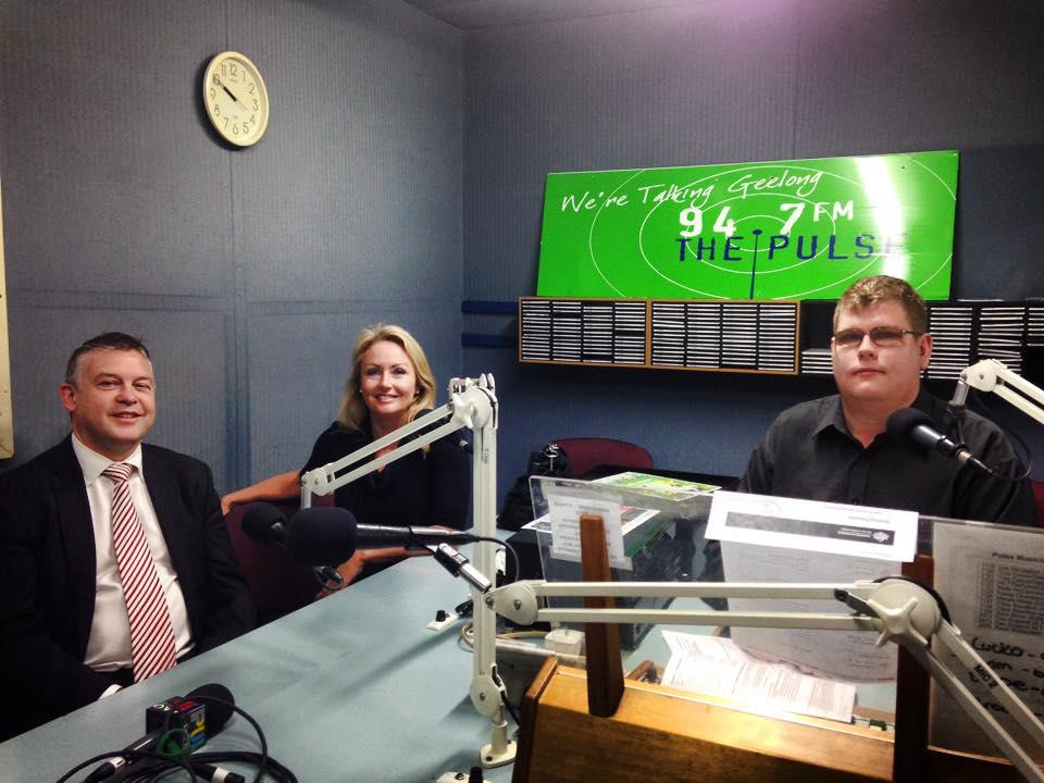 Mitchell Dye with Ryan Smith and Paula Kontelj