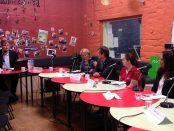 Mitchell Dye moderates the Geelong debate