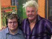 Mitchell Dye with Geelong Mayor, Darryn Lyons