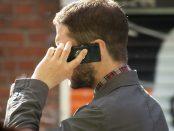 Man speaking on mobile phone