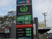 Fuel price board