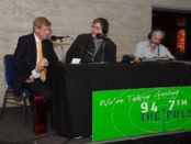 Kerry O'Brien and Mitchell Dye at the G21 Stakeholder Forum
