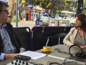 Mitchell Dye with Bernadette Uzelac, CEO- Geelong Chamber of Commerce