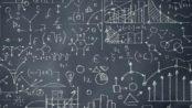 Intimidating maths blackboard