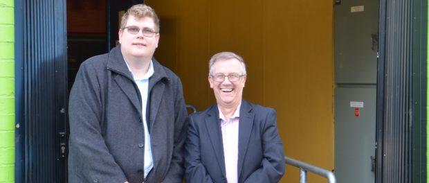 Mitchell Dye with Les Watson