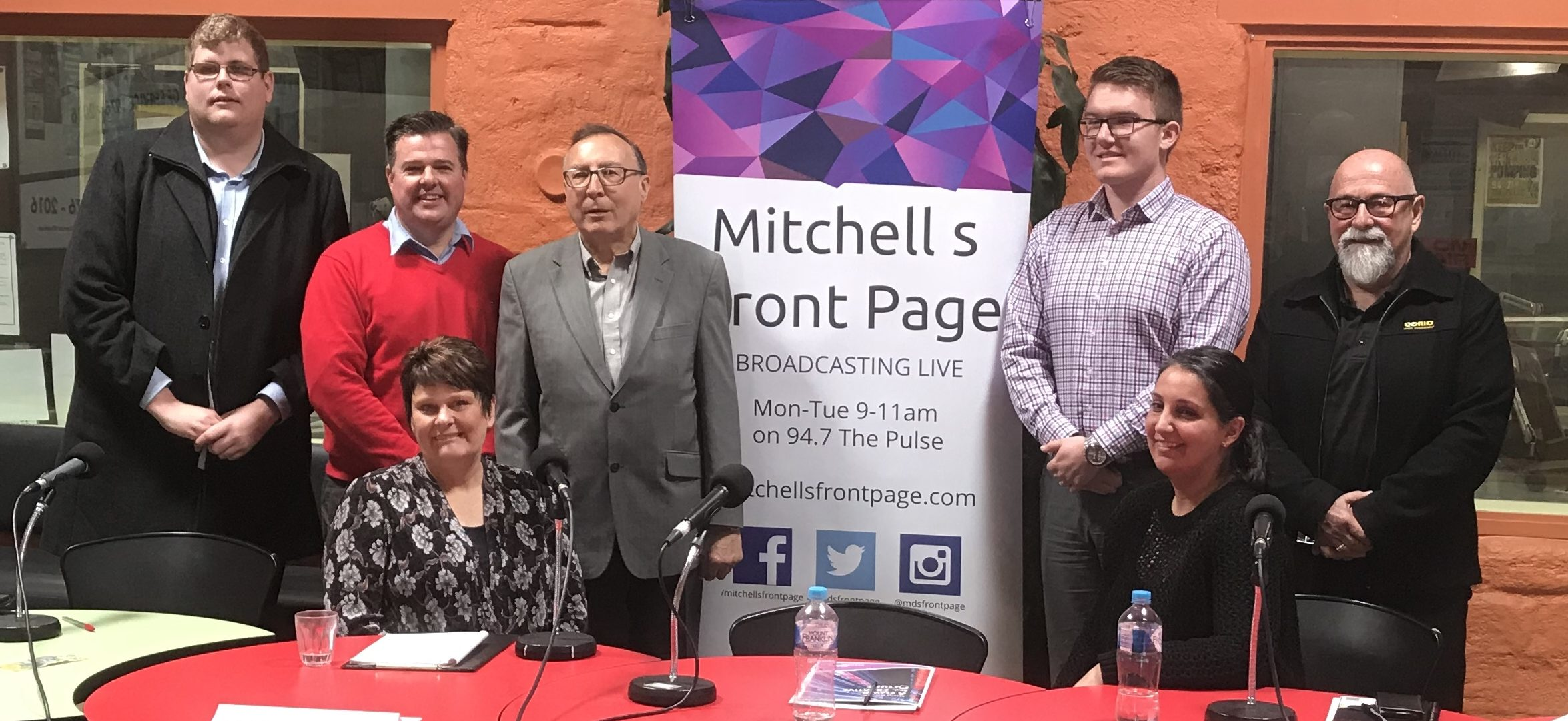 Mitchell Dye with the Windermere candidates
