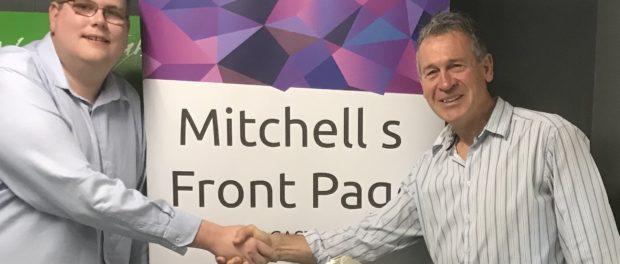 Mitchell Dye with Geelong Mayor Bruce Harwood