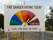 Extreme fire danger sign