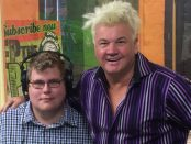 Mitchell Dye with Geelong Mayor, Darryn Lyons