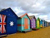 Australian Flag Beach Hut
