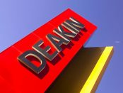 Deakin University sign