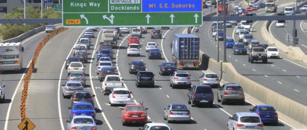 Melbourne car traffic