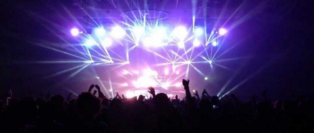 Music festival lights