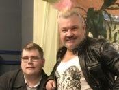 Mitchell Dye with former Geelong mayor Darryn Lyons
