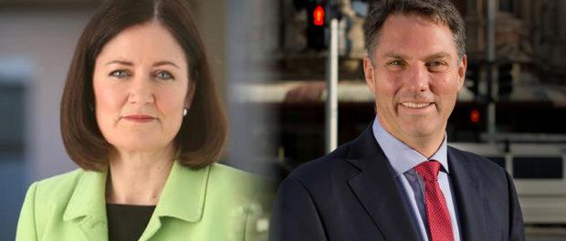 Sarah Henderson and Richard Marles