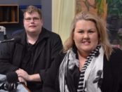 Mitchell Dye with Lauren Hogan from Fruition Recruitment