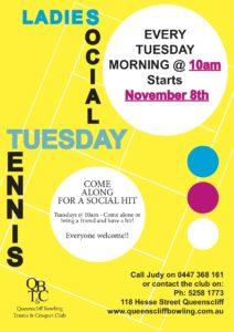 Tuesday Morning Social Tennis