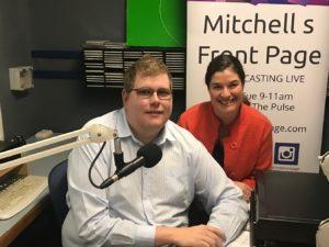 Mitchell Dye with Jennifer Cromarty