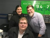 Mitchell Dye centre) with Jennifer Cromarty and Rob Menaul