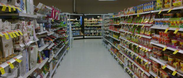 Coles supermarket shopping