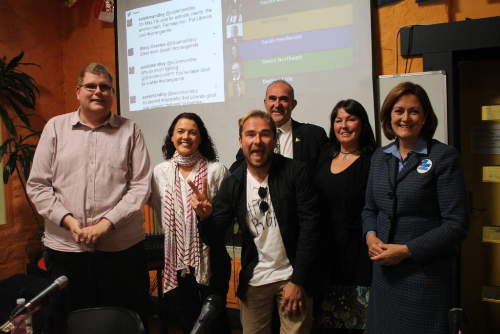 Mitchell Dye with the Corangamite candidates