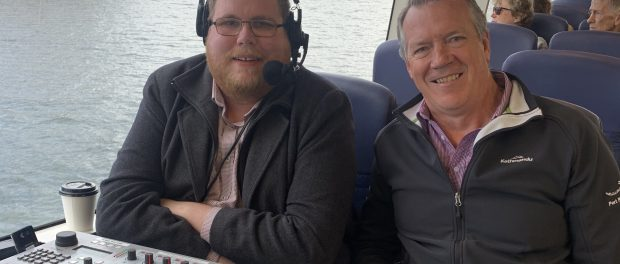 Mitchell Dye with Port Phillip Ferries CEO Murray Rance