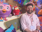 Dr Ben Deery on the set of Play School